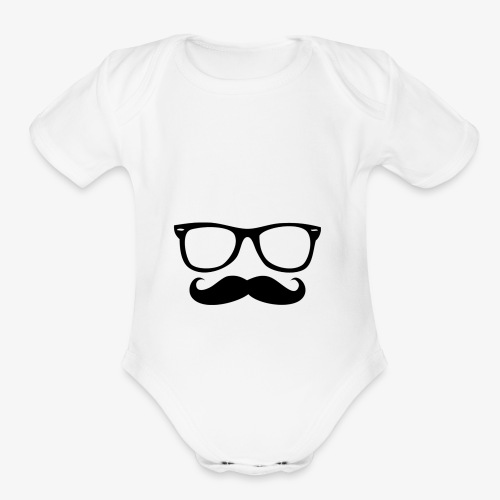 Hipster line - Organic Short Sleeve Baby Bodysuit