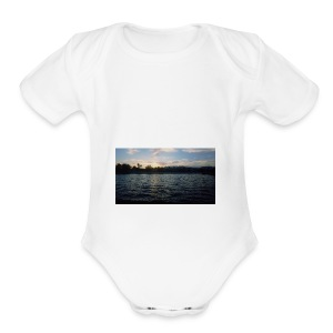 Pink Sunset - Short Sleeve Baby Bodysuit