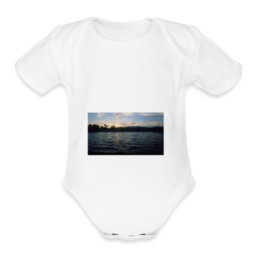 Pink Sunset - Organic Short Sleeve Baby Bodysuit