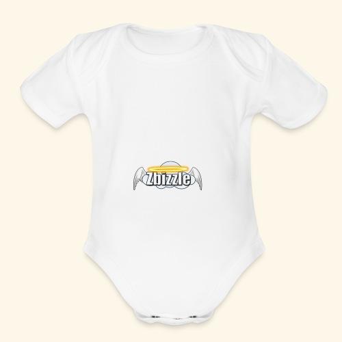 Zbizzle Logo (2) - Organic Short Sleeve Baby Bodysuit