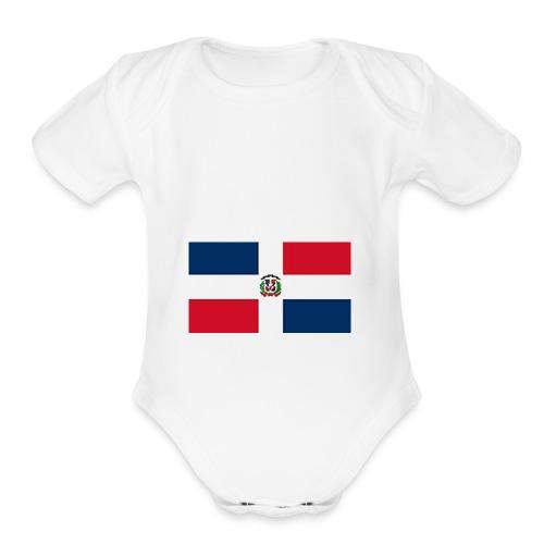 Dominican Republic shirt - Organic Short Sleeve Baby Bodysuit