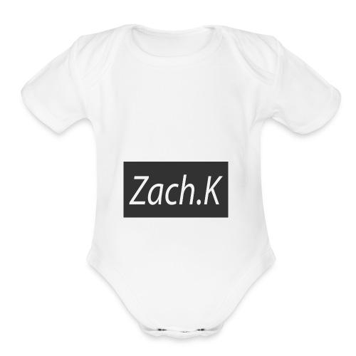My Hoodie logo - Organic Short Sleeve Baby Bodysuit