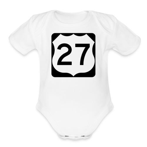27 Mathew vlogs - Organic Short Sleeve Baby Bodysuit