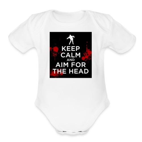 Aim for the head - Organic Short Sleeve Baby Bodysuit