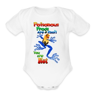 Poisonous frogs are cool - Short Sleeve Baby Bodysuit