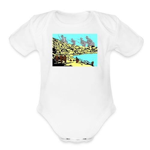 ANZAC - Organic Short Sleeve Baby Bodysuit