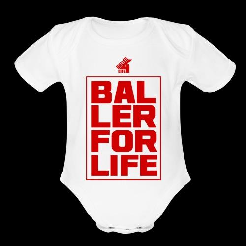 B4L Stacked - Organic Short Sleeve Baby Bodysuit