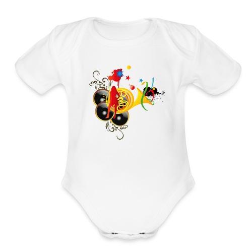 sound system - Organic Short Sleeve Baby Bodysuit