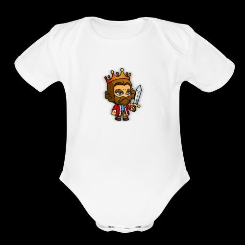 King Merch - Organic Short Sleeve Baby Bodysuit