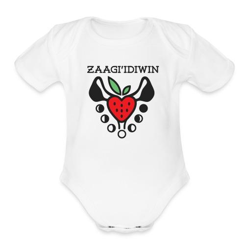 Zaagi idiwin Logo - Organic Short Sleeve Baby Bodysuit