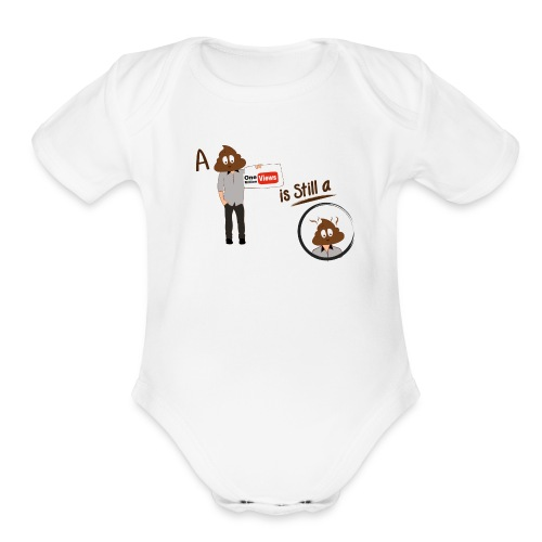 Don't be a Shithead - Organic Short Sleeve Baby Bodysuit