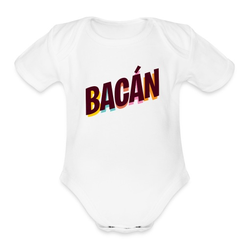 bacan color 1000x700px - Organic Short Sleeve Baby Bodysuit