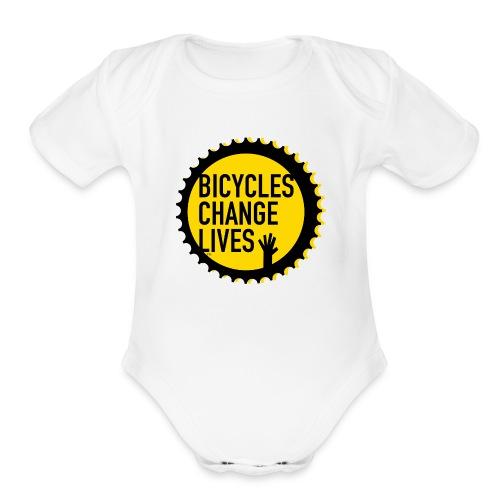 BCL Yellow Cog - Organic Short Sleeve Baby Bodysuit
