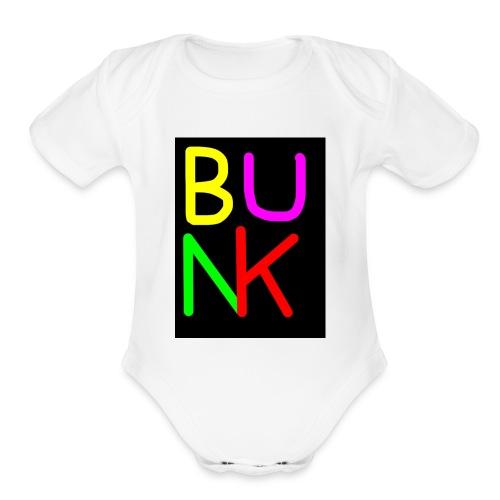 neon bunk - Organic Short Sleeve Baby Bodysuit
