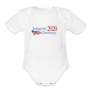 Vote for real American values! - Short Sleeve Baby Bodysuit