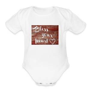 Bless Your Heart - Short Sleeve Baby Bodysuit