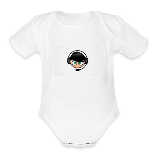 my youtube image - Organic Short Sleeve Baby Bodysuit