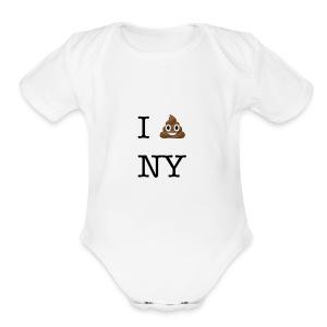 I poop NY - Short Sleeve Baby Bodysuit