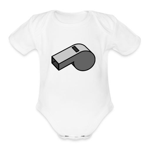 shut up whistle! - Organic Short Sleeve Baby Bodysuit