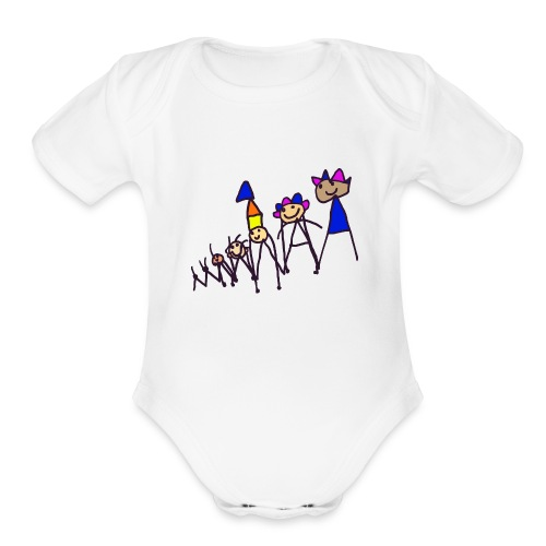 The king family - Organic Short Sleeve Baby Bodysuit