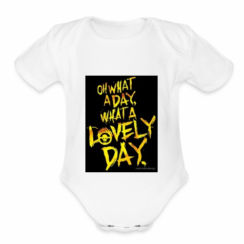 sunny days - Organic Short Sleeve Baby Bodysuit