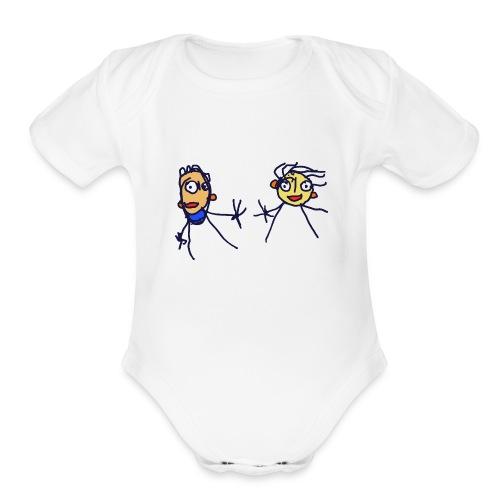 Couple in the wind - Organic Short Sleeve Baby Bodysuit