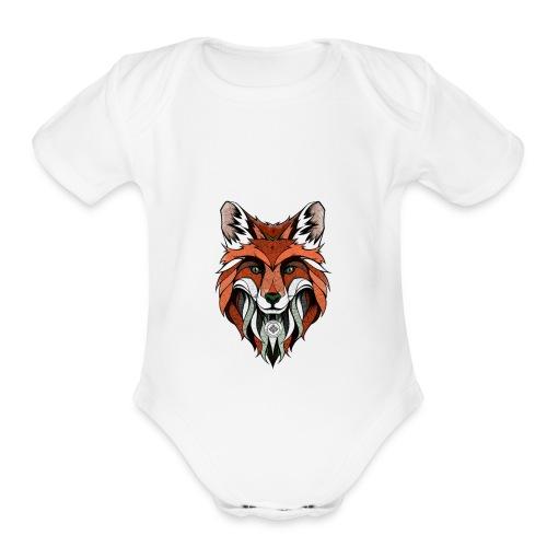 THE FOX - Organic Short Sleeve Baby Bodysuit