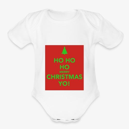 hohohoho!!!! - Organic Short Sleeve Baby Bodysuit