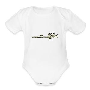 MIWO Skeleton Logo - Short Sleeve Baby Bodysuit
