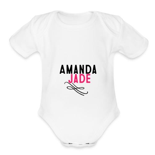 Amanda Jade - Organic Short Sleeve Baby Bodysuit