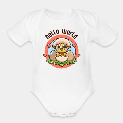 baby girl - Organic Short Sleeve Baby Bodysuit
