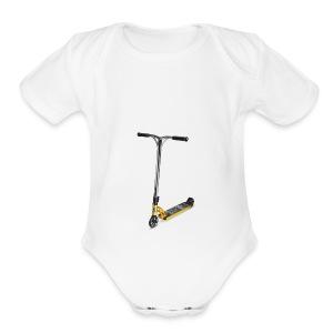 gold scooter - Short Sleeve Baby Bodysuit