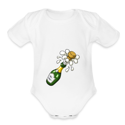 Top popper - Organic Short Sleeve Baby Bodysuit