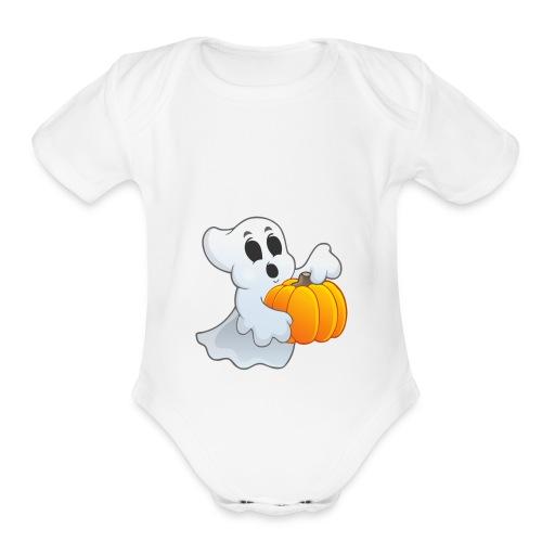 Kibzgaming Halloween MERCHANDISE - Organic Short Sleeve Baby Bodysuit