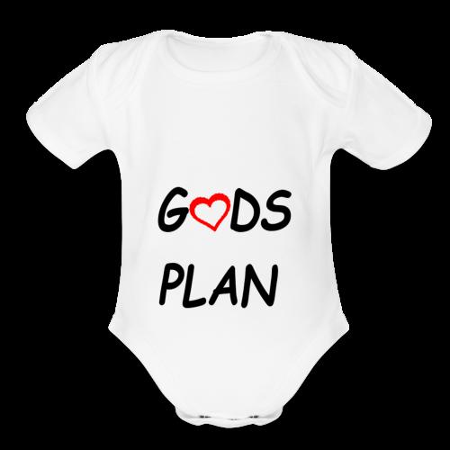 Gods Plan too - Organic Short Sleeve Baby Bodysuit