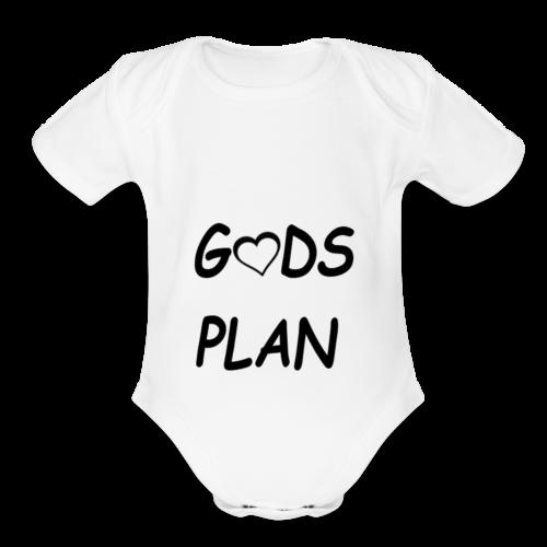 Gods Plan - Organic Short Sleeve Baby Bodysuit
