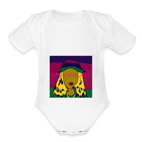 Laid Back Shawty - Organic Short Sleeve Baby Bodysuit