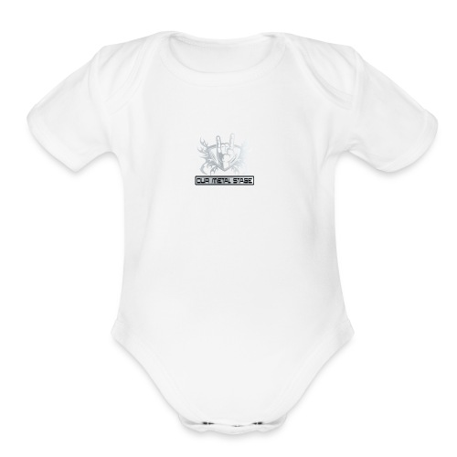 Our Metal Stage Logo - Organic Short Sleeve Baby Bodysuit