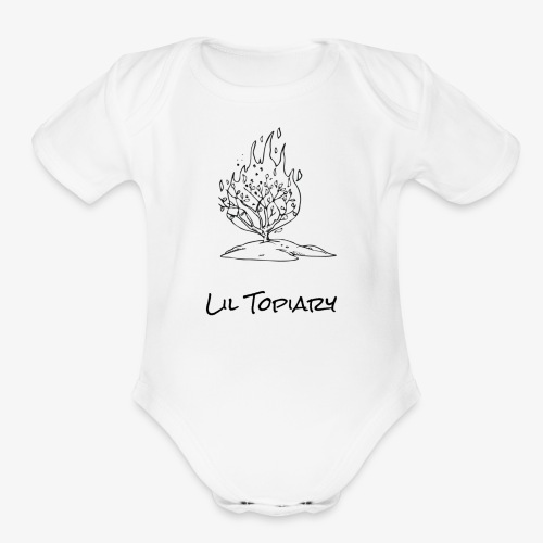 Flaming Topiary - Organic Short Sleeve Baby Bodysuit