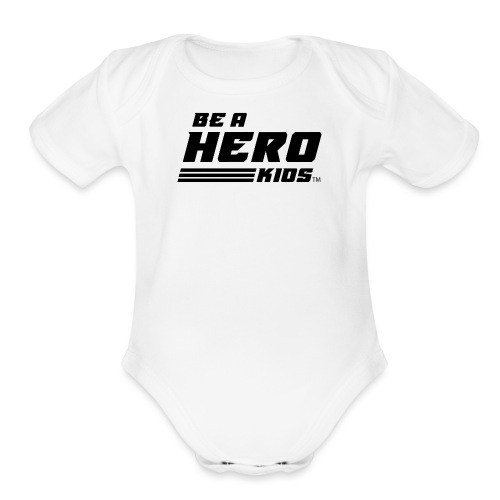BHK secondary black TM - Organic Short Sleeve Baby Bodysuit