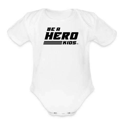 BHK secondary black TM - Organic Short Sleeve Baby Bodysuit