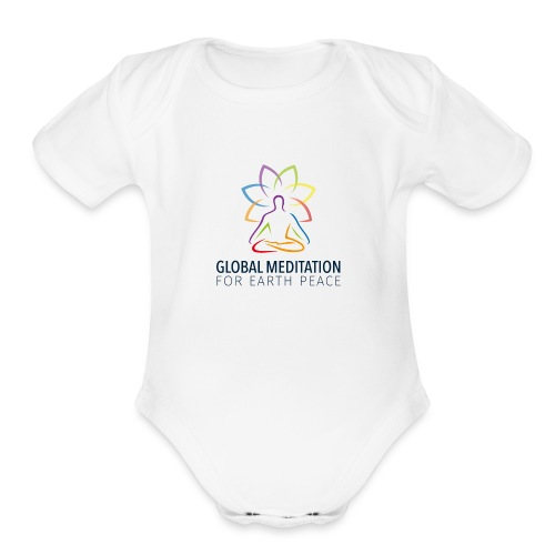 Global Meditation • For Earth Peace - Organic Short Sleeve Baby Bodysuit