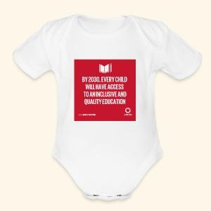 Goal 4 education for all 2030 - Short Sleeve Baby Bodysuit