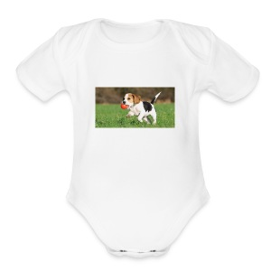 23695 pets vertical store dogs small tile 8 CB312 - Short Sleeve Baby Bodysuit