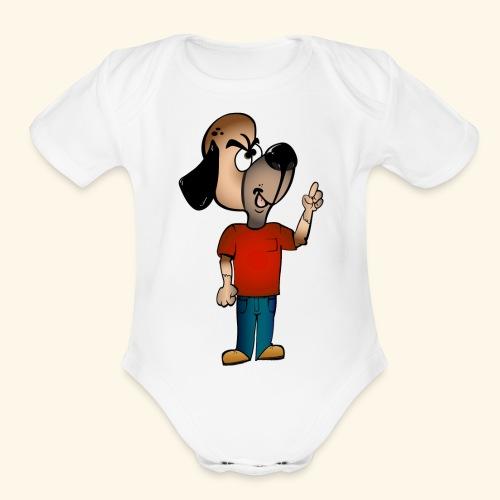 Dog Mascot - Organic Short Sleeve Baby Bodysuit