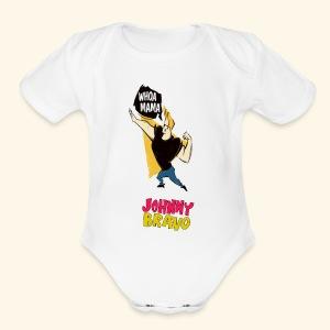 jhonny bravo my 1 - Short Sleeve Baby Bodysuit