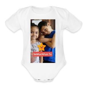 SoMuchFun tv be a star - Short Sleeve Baby Bodysuit