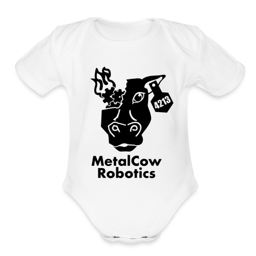 MetalCow Solid - Organic Short Sleeve Baby Bodysuit