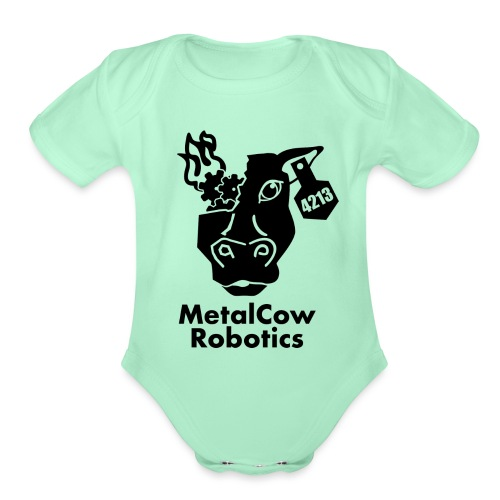 MetalCow Solid - Organic Short Sleeve Baby Bodysuit