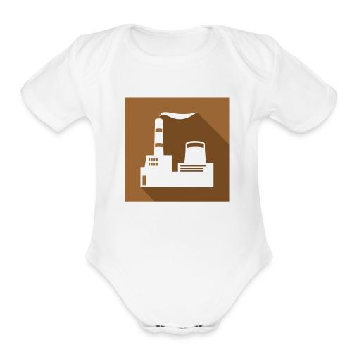 flat factory vector - Organic Short Sleeve Baby Bodysuit